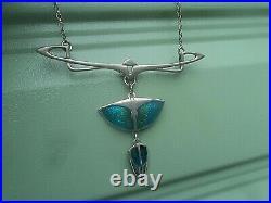Superb Scottish Silver & Enamel Art Nouveau Pendant Pat Cheney h/m Edinburgh