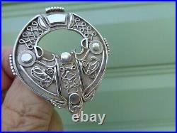 SuperbLARGE Scottish Sterling Silver Orkney Brooch Ola Gorie h/m 1973 Edinburgh
