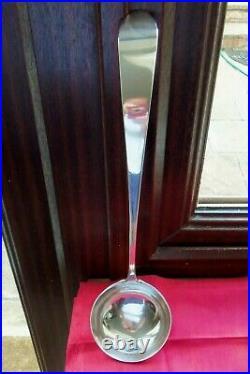 VERY RARE C1790, SCOTTISH PROVINCIAL GREENOCK 15inch SOLID SILVER SOUP/STEW LADLE
