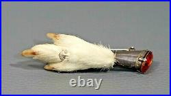 Victorian Hunting Sterling Silver Scottish Grouse Ptarmigan Claw Brooch Kilt Pin
