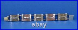 Victorian Scottish Ladies Sterling silver Bracelet Aberdeen Granite design 7.5