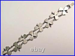Victorian Scottish Malachite Linked Bracelet Shamrock, Good Luck, Lucky