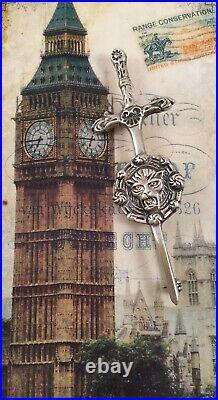 Vintage Jewellery Scottish Celtic Sterling Silver Dagger Brooch Pin Kilt Jewelry
