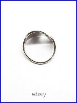Vintage Norman Grant Sterling Silver Enamel Ring Scottish Size L M