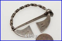 Vintage Scottish Arran Sterling Silver Penannular Celtic Tara Brooch