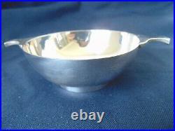 Vintage Scottish sterling silver whisky cup quaich Edinburgh 1970, 110 grams