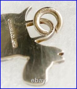 Vintage Tiffany & Co Sterling Silver 925 Scottish Terrier Dog Charm AG Box Bag