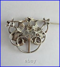 Vtg Ola Gorie OMG Scottish Celtic Love Birds Sterling Silver Pin Brooch RARE