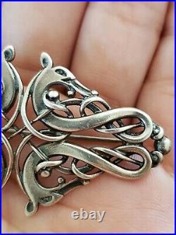 Vtg Ola Gorie Scottish Sterling Silver Pin Brooch